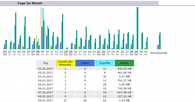 Screenshot Web-Statistik